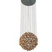DIAMANTE żyrandol kula - brąz z białym 6292